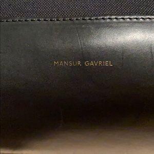 Mansur Gavriel Black Canvas Tote